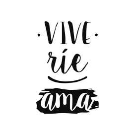 Vinilo decorativo Vive Ríe Ama