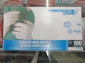 Guantes talla M de latex esteril con talco cajax 100 ud presioncare