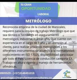 Metrólogo para la ciudad de Manizales