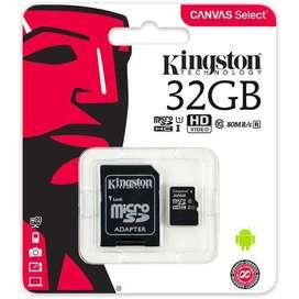 Micro SD Kingston 32 GB Canvas Select Leer precio en la publicación