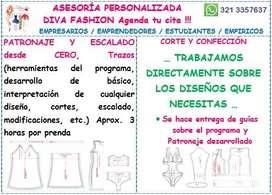 ASESORÍA Y CLASE PERSONALIZADA por horas en Diseño de moda DESARROLLO DE COLECCIONES