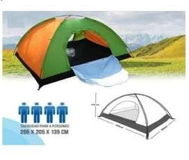 Carpa Camping Para 4 Personas Sencilla De Armar Acampar