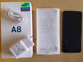 Samsung Galaxy A8 2018 64 GB Negro (20 meses de uso)