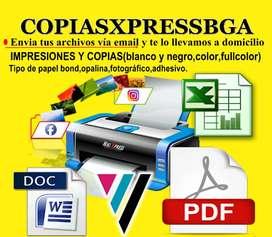 IMPRESIONES A DOMICILIO -COPIAS-FOTOCOPIAS .BUCARAMANGA-PROVENZA-CACIQUE -CAÑAVERAL