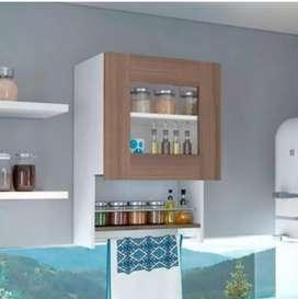 Mueble auxiliar superior balboa blanco + cafe expreso 73x50x33.5 xm