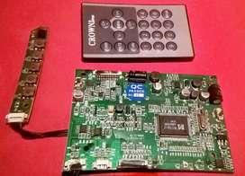 Main board mini TV car Crown  LTF-TV716