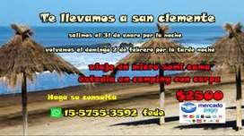 Viaje a San Clemente del tuyu, puntos de Salida , lomas, Burzaco varela