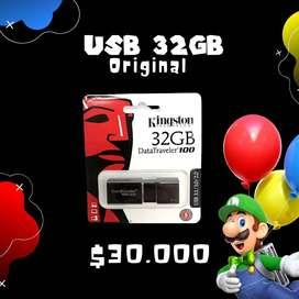 USB KIGSTON ORIGINAL 32GBS