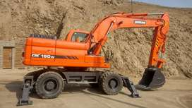 Excavadora de Llantas Doosan DX190w  Dx210W Importada