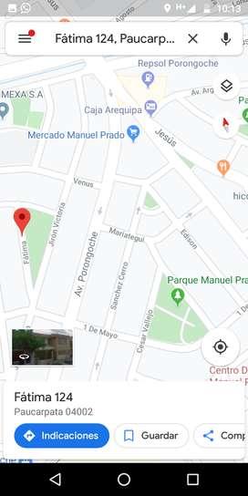 VENDO CASA COMO TERRENO ubicado en la calle Fátima, frente al parque José Olaya a dos cuadras del Mercado Manuel Prado