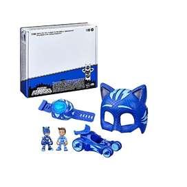 PJ Masks heroes de pijamas Catboy set de juguetes con 1 mascara, 2 personajes, vehículo, pulsera SONIDO Y LUZ