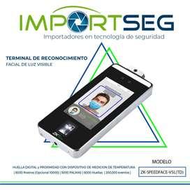Terminal De Identificación Facial Y Detección De Temperatura