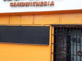 Venta de fondo negocio rubro sandwicheria