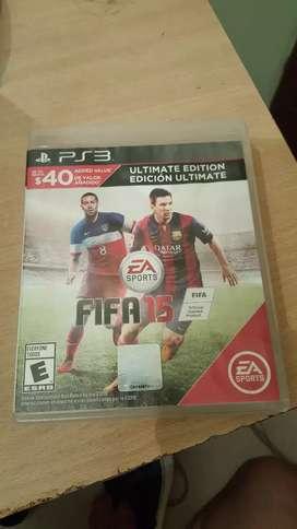Vendo juego Fifa 15 Ps3