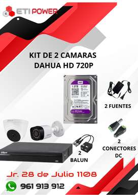 Kit de 2 camaras HD 720P