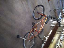 Bicicleta niño con rueditas. Rodado 20