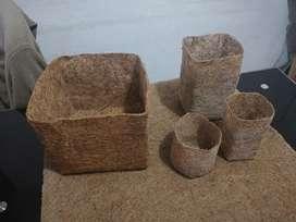 Macetas en fibra de coco y sustratos