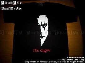 Remeras The Crow Cine Terror Series y más! Estampado pintura textil premium Algodon 100% Envios sin cargo Capital Promo!