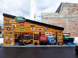 Dioramas, maquetas para autos a escala, Jeep, Toyota, Land Rover