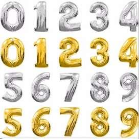 Número en globo para cumpleaños 16 pulgadas