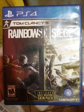 Vendo  Rainbow six siege o cambio por juego god of war  en fisico