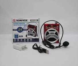 Parlante portátil sonivox, ref 1449 con batería de larga duración.