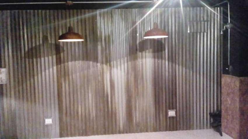 DECORACIONES EN LAMINA DE ZINC OXIDADAS CON LAMPARAS 0