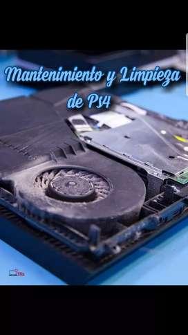 Mantenimiento y Limpieza de consolas Ps4