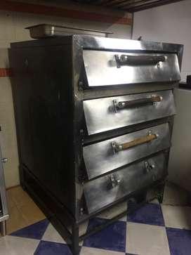 Se vende horno y congelador en acero inoxidable