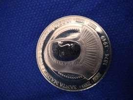 Moneda de plata madre laura original