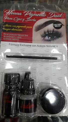 Henna pigmento para cejas perfectas incluye henna,pigmento activador,guia y pincel, GRATIS EL ENVIO