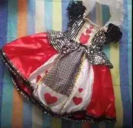Disfraz para niña - dama de corazones