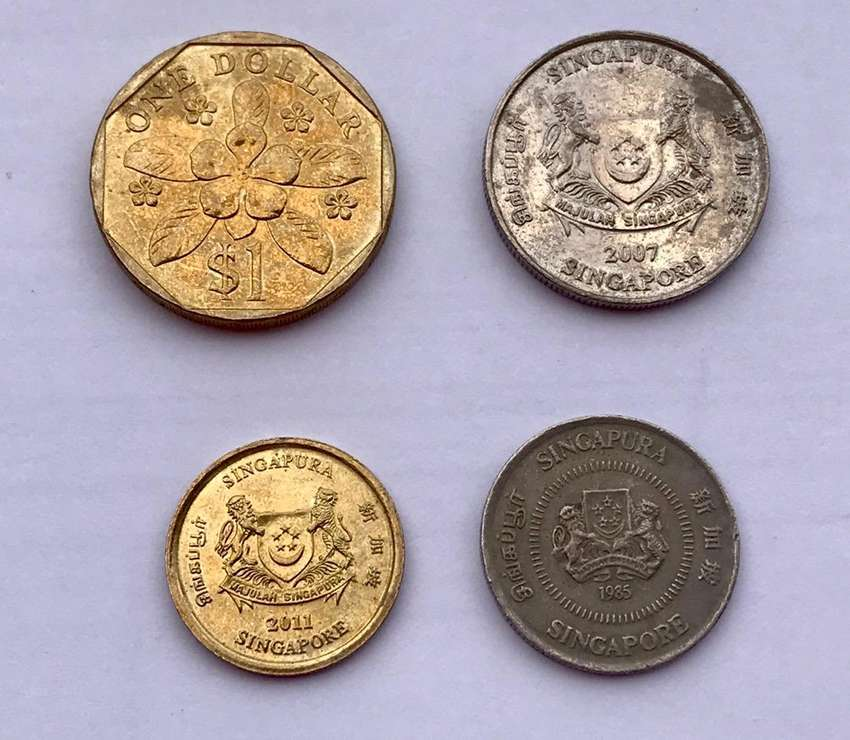 Singapur monedas 0