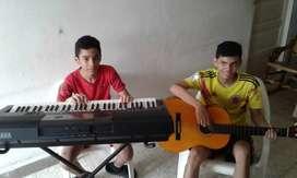 Clases de piano,guitarra y canto.