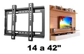 Soporte Tv Smart Led Lcd Fijo universal soporta 14 a 42 pulgadas