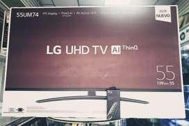 Smart Tv Lg de 55 Pulgadas Serie Um7400