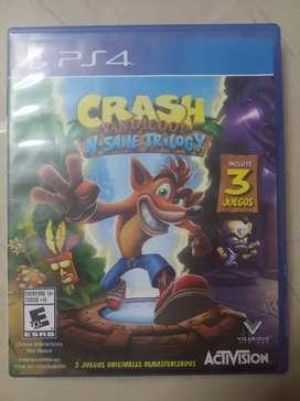 Vendo juego crash trilogy ps4