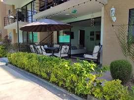 Apartamento con terraza en condominio vacacional a 20 minutos del Parque del Café 7 personas