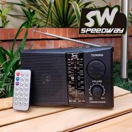 Radio Recargable Beck R-008 Con Control 4 Bandas Fm/am/sw/usb/sd/tf