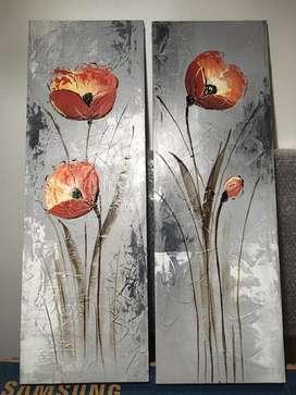 Cuadros flores verticales