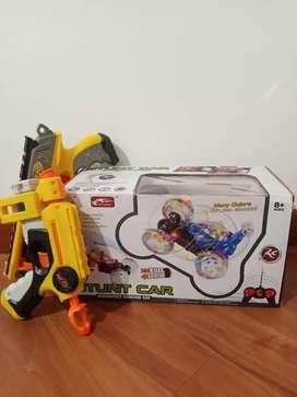 Combo pistolas de Nerf con vehículo a control remoto