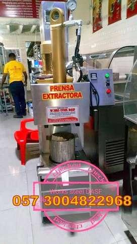 PRENSA EXTRACTORA DE ACEITES Y MANTECACA