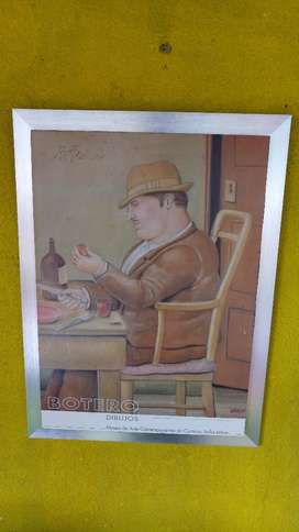 Cuadro Litografia Botero Firmada
