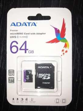 Memoria micro + adaptador 64gb original