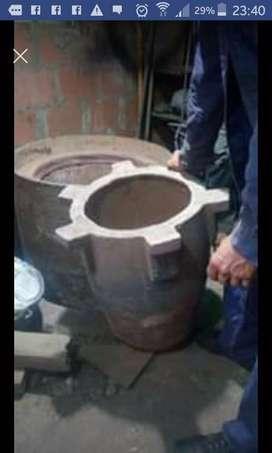 Horno de fundición para aluminio
