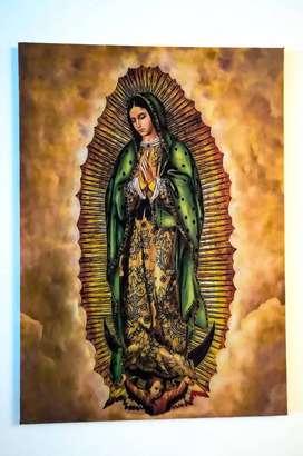 Virgen de GUADALUPE Impresión sobre Lienzo