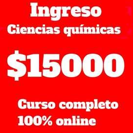 CURSO DE INGRESO A CIENCIAS QUIMICAS UNC UCC