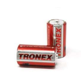 2 Pares Pilas Tipo D Tronex Bulk Manganeso 1.5v R20 Icontec 1a
