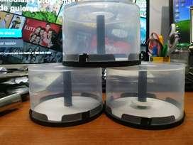3 estuches porta CD/DVD x50 cada uno