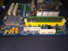 Mother gigabyte. Ga-m61pme-s2. Athlon x2 5200
